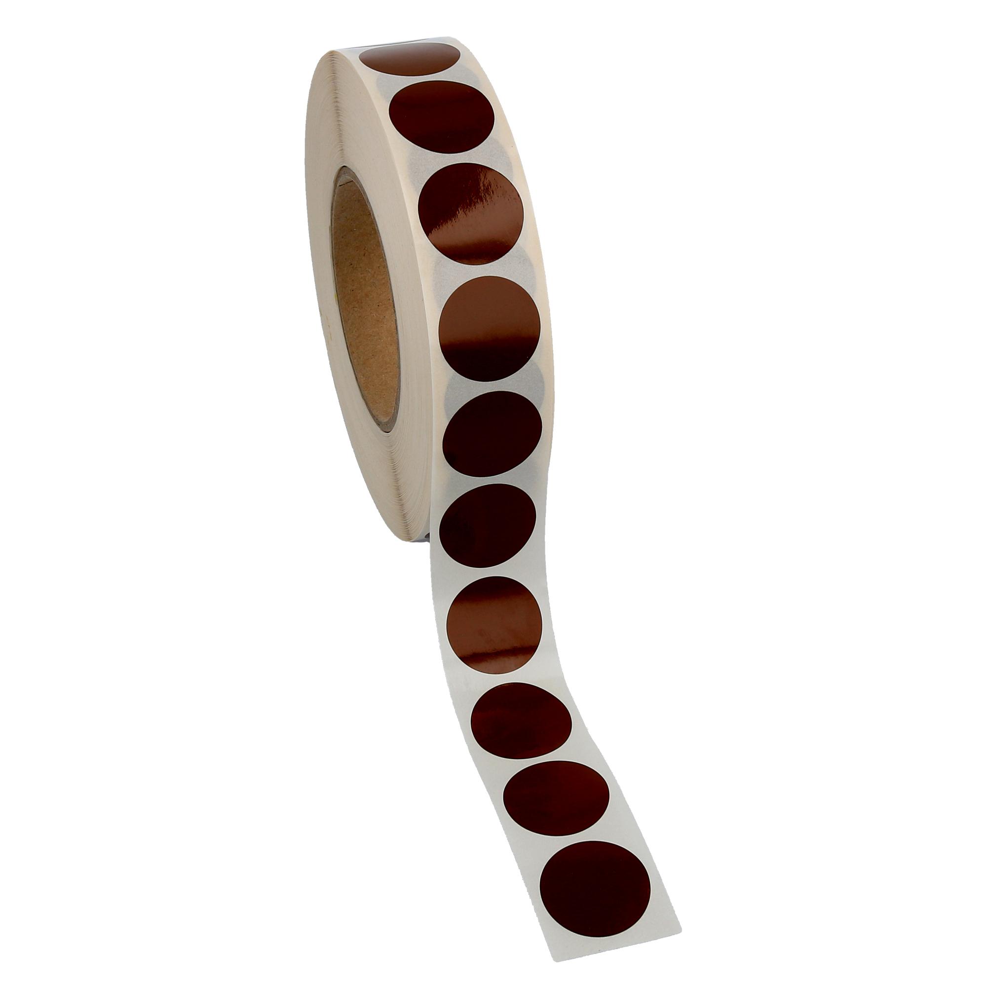 3000-Markierungspunkte-30-mm-rund-Folie-braun-permanent-1-Rolle-n